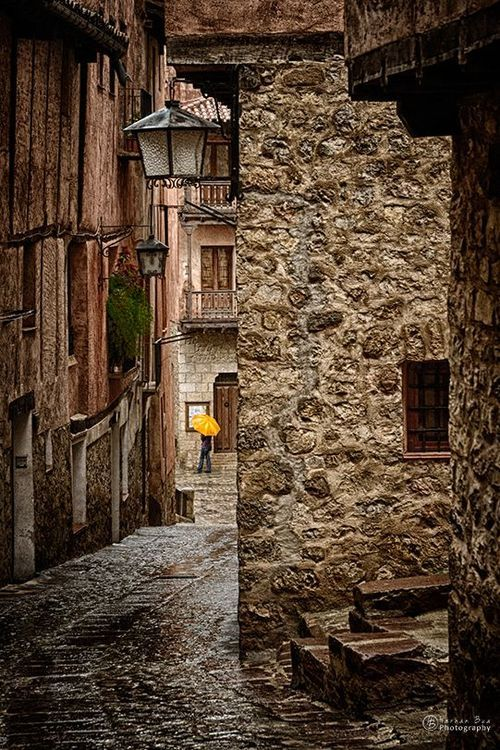 Umbrella, Albarracin, Teruel, Spain