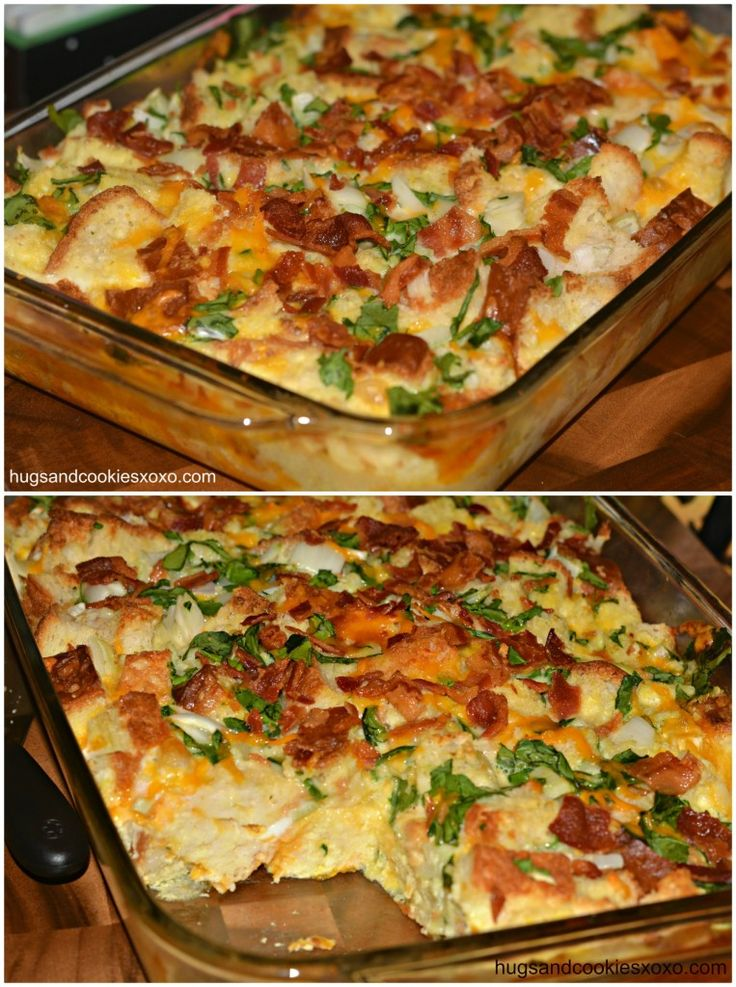 Bacon egg casserole