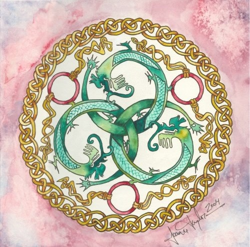 Dragon Celtic Knot by Joanne Taylor - maybe some celtic knotting for the border of the circle of the logo?