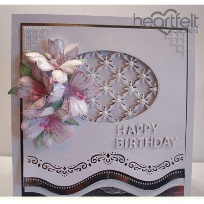 Heartfelt Creations - Birthday Lilies And Borders Project