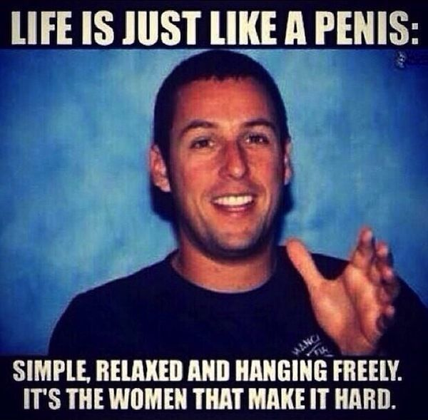 I don't know if a young Adam Sandler actually said this, but if he did, he was wise beyond his years.