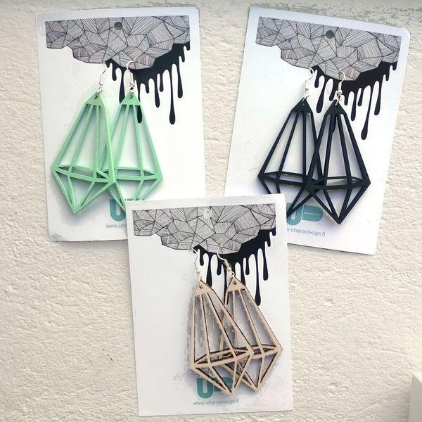 Kristalli earrings by Uhana design