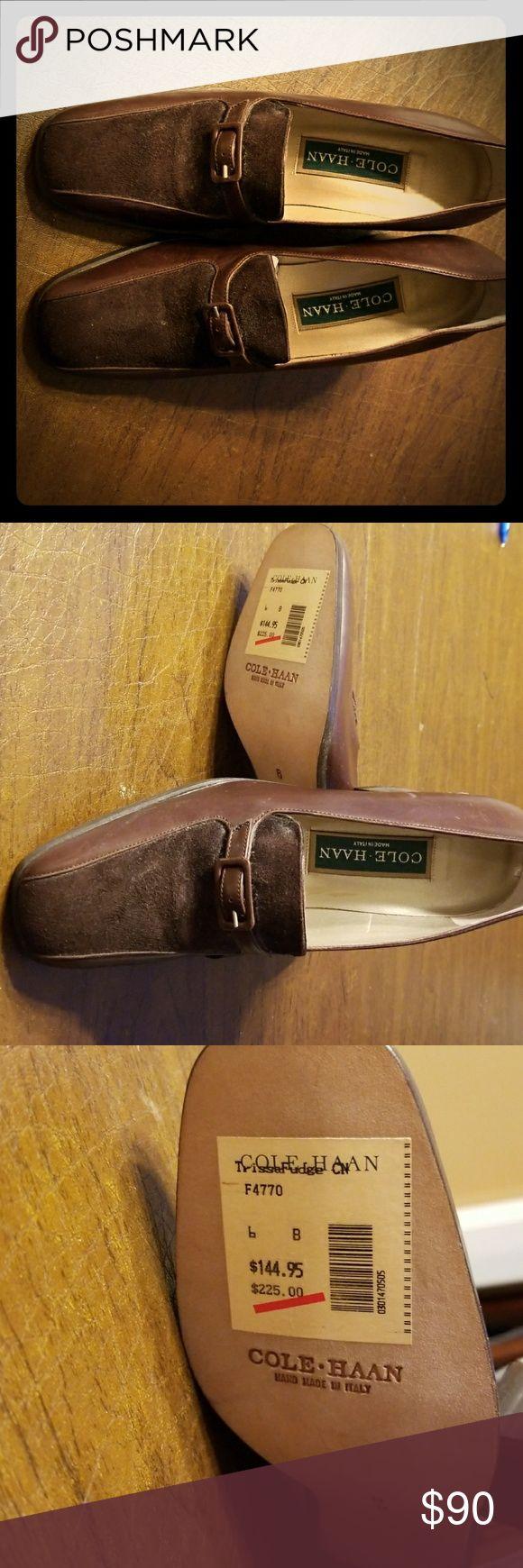 Cole Haan pumps Brown leather top  suede Cole Haan Shoes Heels