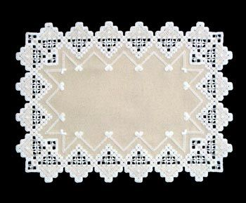 The Triple Tan Doilies brings us three easy-to-stitch Hardanger doilies in small, medium, and large. Perfect for a quick gift or easy going project for your end table!
