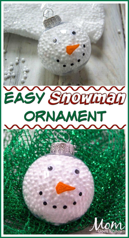 Easy Snowman Ornament Diy Christmas Snowman Diy Christmas Ornaments Easy Diy Christmas Ornaments Rustic Ornaments Diy Kids