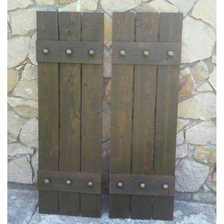 34 best Rustic cedar shutters images on Pinterest | Cedar shutters ...