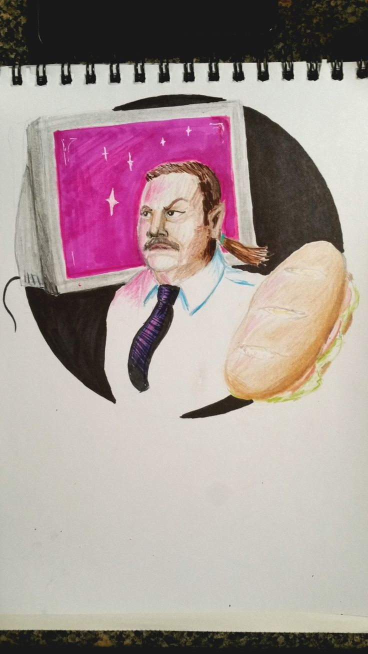 """drawfee: """"emperorethan: """"My Fantasy Paul Blart fan Blart. Probably the best drawing of Kevin James I have ever done. """" This looks like the cover to the WEIRDEST 80′s Young Adult novel ever and I LOVE IT. """" That was *exactly* what I was going for."""