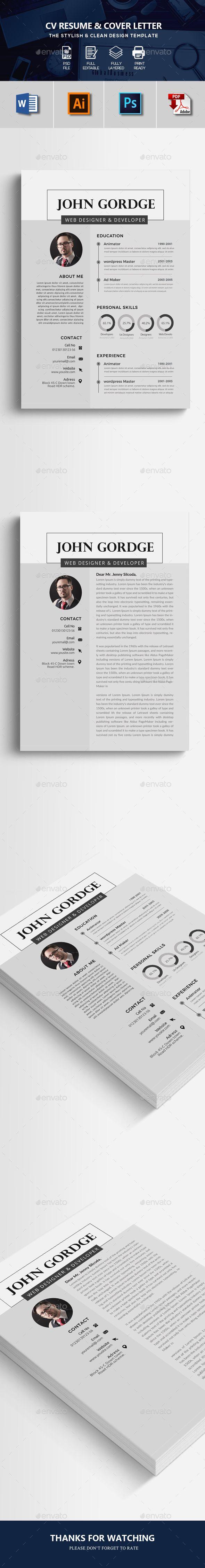 CV Resume Word Format Resumes Stationery