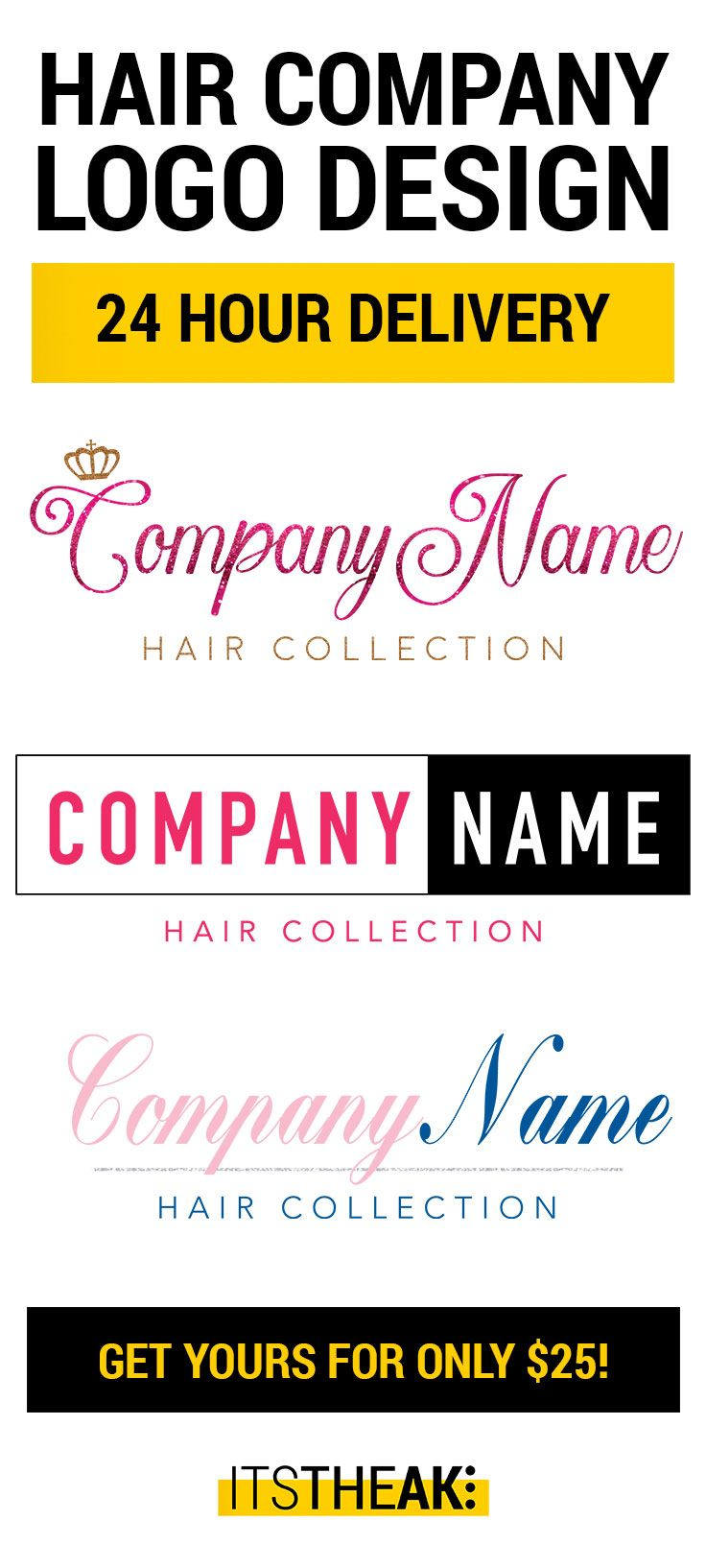 The 25 best hairdresser logo ideas on pinterest hair salon get your custom logo design for your hair extension business today for only 25 custom hair logo design hairdresser salon bundles branding hair pmusecretfo Image collections