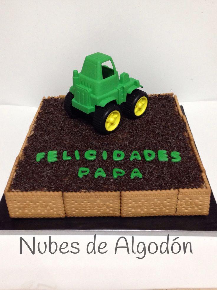 Tarta de galletas y chocolate Tractor