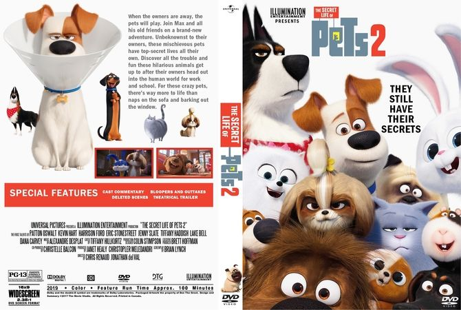 The Secret Life Of Pets 2 2019 Dvd Custom Cover Dvd Cover