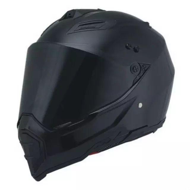 Woljay Dual Sport Off Road Motorcycle helmet Dirt Bike ATV D.O.T certified M, Black