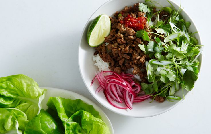 This 30-minute larb is crunchy, salty, spicy, and everything we want to eat tonight.