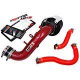 Deals week 02-05 Honda Civic Si HPS Red Shortram Air Intake   Silicone Radiator Hose Kit Short Ram sale
