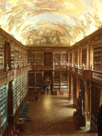 PRAGUE Monastery Library. Books, Books, Books!! Tours available but can be done without