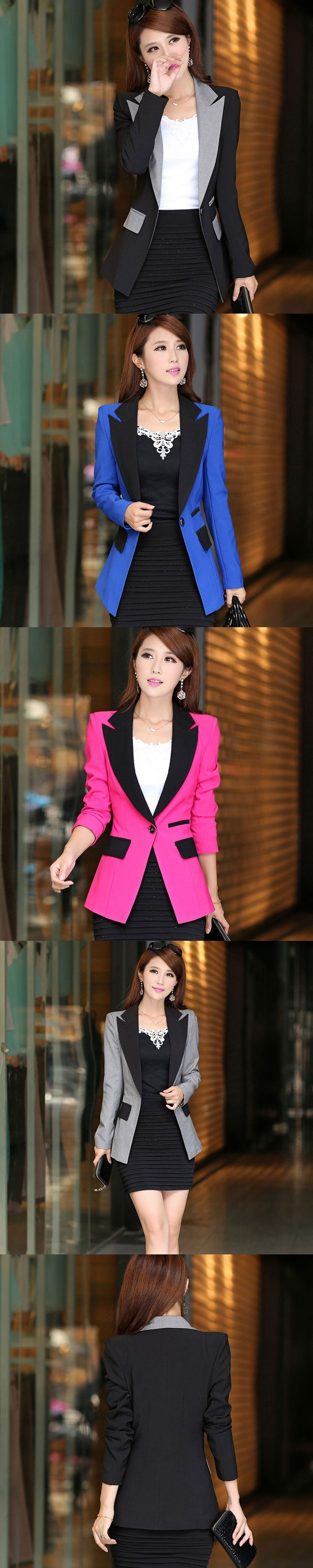 Blazer Jacket Women Suit Office Ladies 2017 Vogue Refresh Blazers Mujer Jaqueta Feminina Outwear manga longa Slim fit Winter