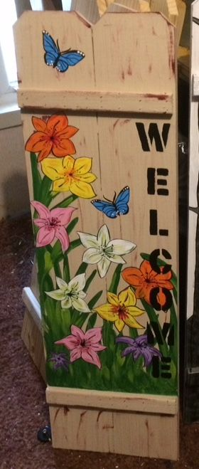 Pin by Ronda Dillard on Painted Fence boards Pinterest Painted