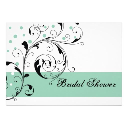 Scroll leaf white jade green wedding bridal shower