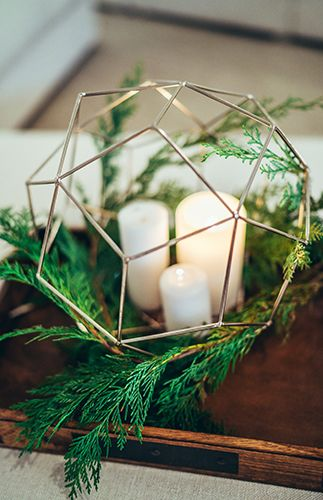 Winter Baby Shower Full of Greenery