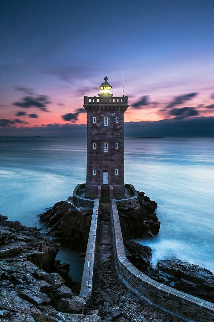 ~~Kermorvan   lighthouse in Finistere, France marking the harbor of Le Conquet, Brittany, France   by yves L~~