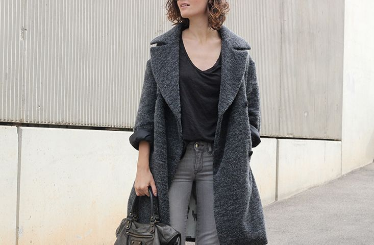 Oversized gray coat American Outfitters