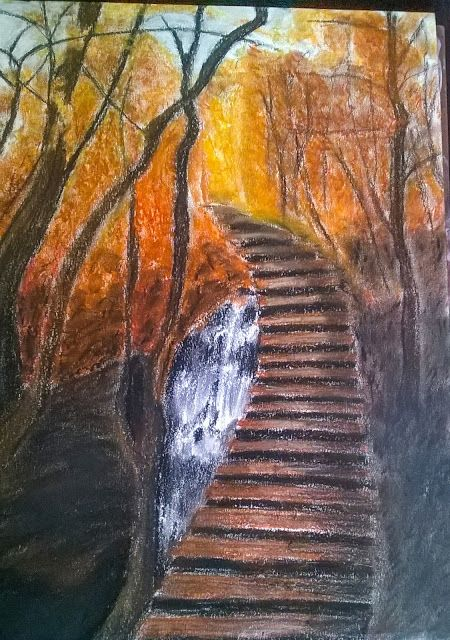 Organic Paint Brush: A walk to remember: Inspired from a photograph I c...