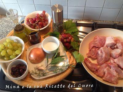 Mina e le sue Ricette del Cuore: #Coniglio stufato al #BarcoReale, con #uva e #olive