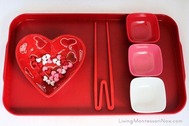 Valentine's Day Transferring Activities for Preschoolers