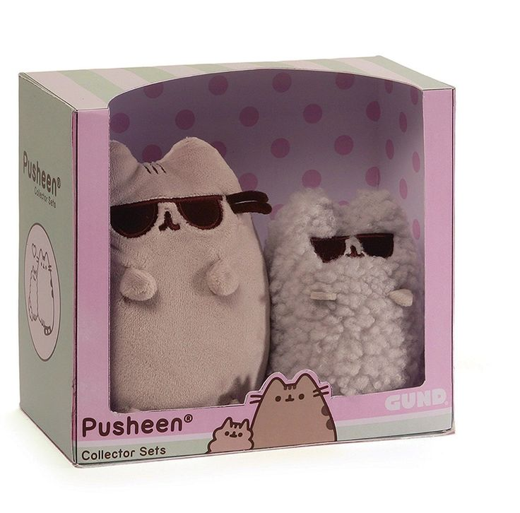 Pusheen and stormy plushies