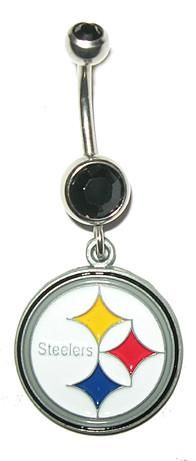 Pittsburgh Steelers Belly Button Ring