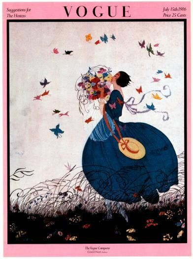 Vogue Poster Magazine Cover- Vintage- July 15, 1916 - Suggestions for the Hostess - Helen Dryden illustration on Etsy, $20.00