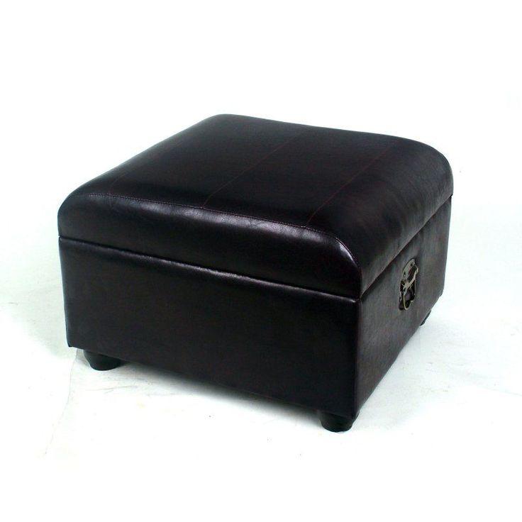 International Caravan Leather Storage Ottoman Bench - Black - YWLF-2187-DC - 25+ Best Ideas About Ottoman Bench On Pinterest Storage Ottoman