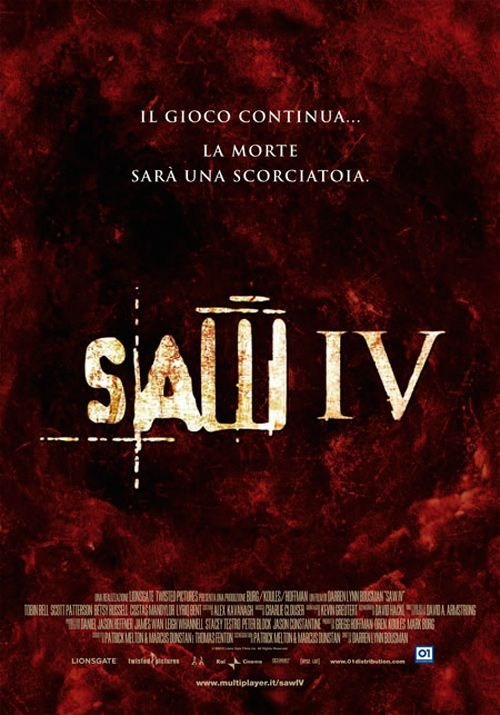 Saw IV (2007) foreign poster art