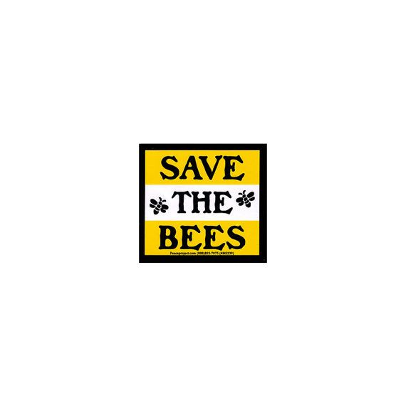 Save the Bees Small Bumper Sticker / Decal or Magnet