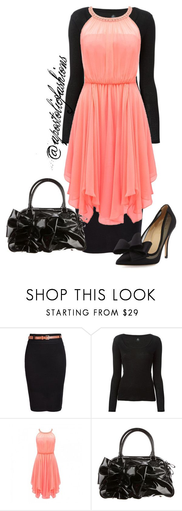 """Apostolic Fashions #857"" by apostolicfashions on Polyvore featuring Petit Bateau, Forever New, Valentino and Kate Spade"