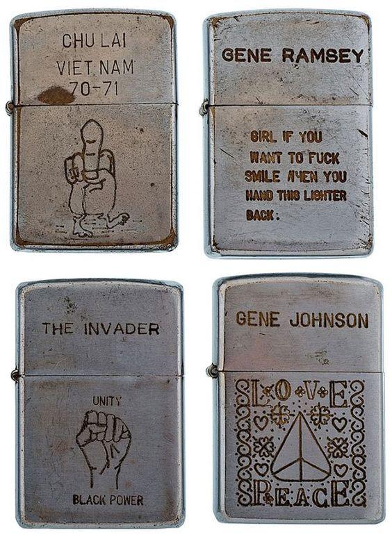 ZIPPO LIGHTERS IN VIETNAM | soldiers engraved zippo lighters from the vietnam war (19)