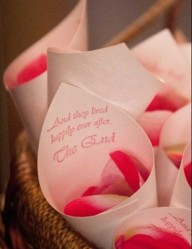 A great way for wedding guests to be involved in the ceremony and easy for florists to make!