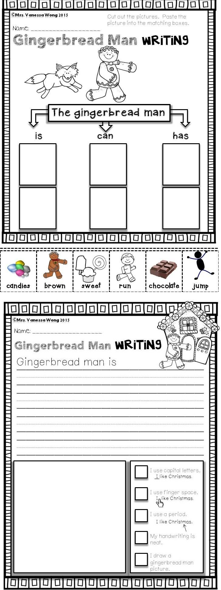 worksheet Christmas Reading Worksheets For Kindergarten 433 best kindergarten christmas i love images on math and literacy no prep kindergarten