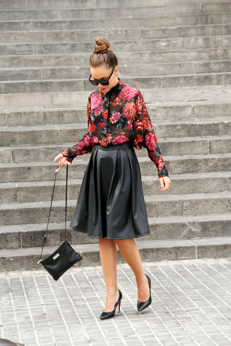 17 Best images about Leather fashion on Pinterest | Skirts, Peplum ...
