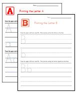 Lots of different alphabet and handwriting practice worksheets!