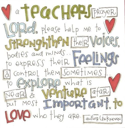 I attended Catholic school from preschool-12th grade. I like having a prayer to reflect on my students that I could use daily. I may not be able to use it in the classroom but I could use it as reflection.