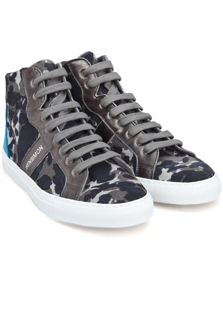 Bensimon Camocolor Sneackys Hi-Top Sneaker Mavi / Kamuflaj | 365ist