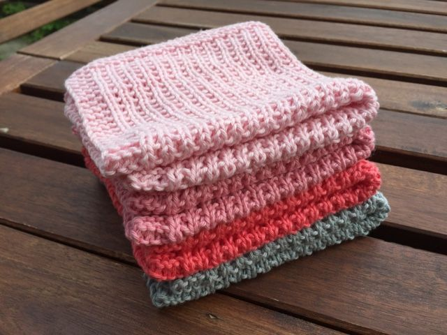 by GJ: DIY - Strikket karklud # 3 - Perlerib - DIY for knitted dishcloths