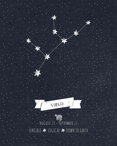 Virgo Constellation Print Art Print by Angelina Perdomo
