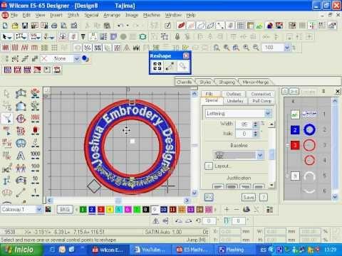 Wilcom DecoStudio Embroidery Software   Al Borj - YouTube