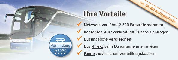 Busunternehmen - in Deutschland suchen / finden & unverbindlich vergleichen