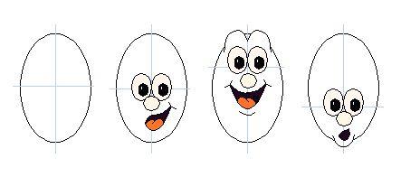 Draw Cartoon Faces Expressions - BillyBear4Kids.com