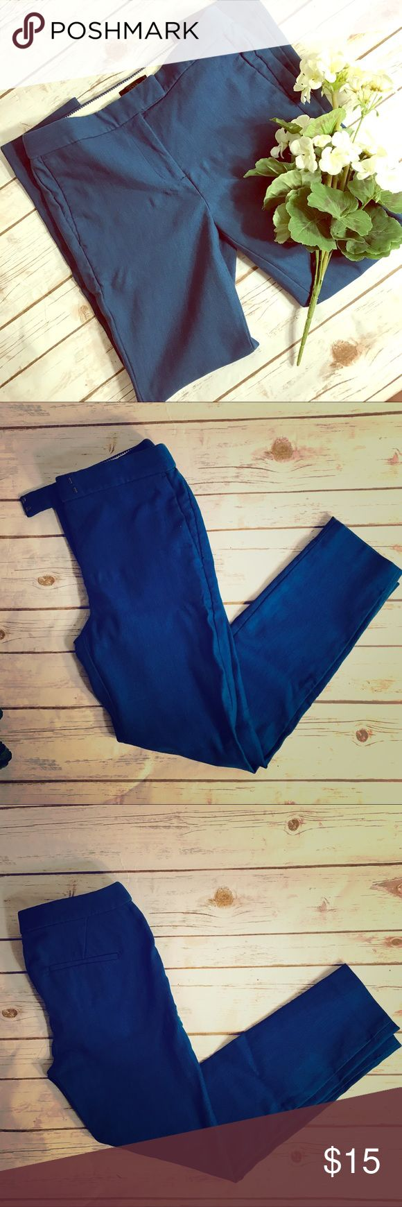 """Women's J Crew Cobalt Blue Dress Pants Gorgeous blue j Crew dress pants. In good overall good condition. Does have some pilling.. size 4P. Measurement for flat lay - waist (29"""") outseam(35.5"""") inseam (26.5) leg width (5"""") like the item not the price? Make me an offer. I consider all offers. J. Crew Pants Trousers"""
