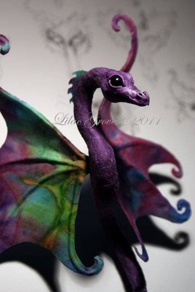 How to Make a Paper (Papier) Mache Dragon (part 1) Tutorial by Lilac Grove...looks amazing...x