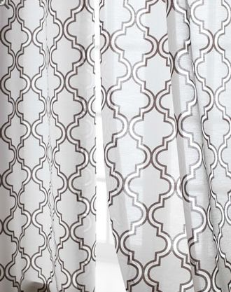 quatrafoil-esque curtains Horchow: Sheer Curtains, Ambrosia Sheer, Curtains Panels, Copy Cats, Curtains Horchow, Decoration Idea, Living Rooms Curtains, Tile Curtains, Sweet Windows